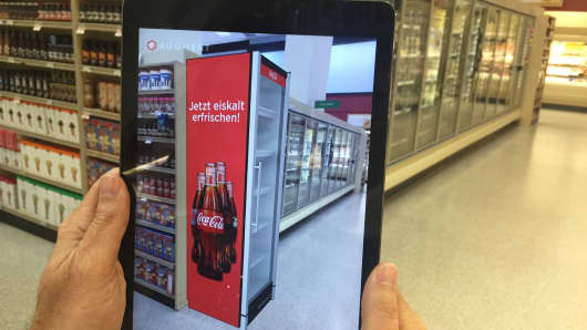 Augment app uses augmented reality in a retail setting.