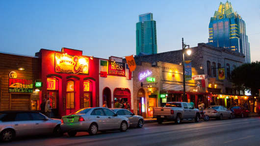 Sixth Street Historic District in Austin, Texas