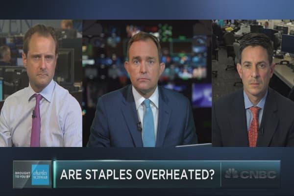 Are consumer staples stocks overvalued?