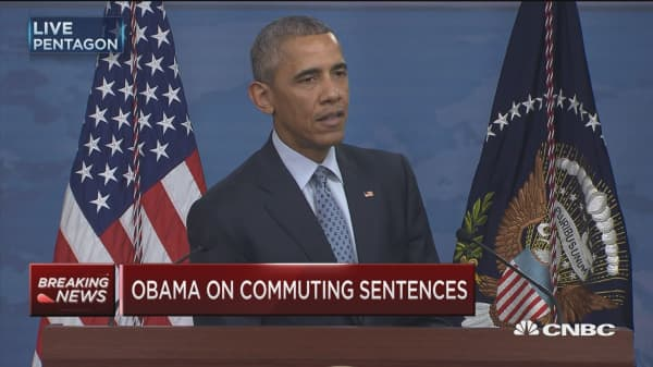 Obama: Ultimately the fix on commutations is criminal justice reform