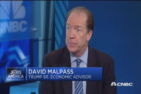 Malpass: Some parts of economy are doing well