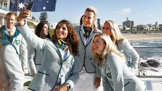 Australia women't Olympic team unifors