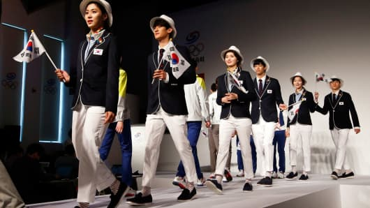 South Korean Olympic uniforms
