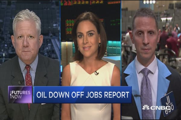 Futures Now: Oil down off jobs report