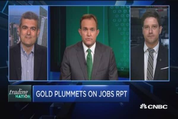 Gold slides on good jobs report