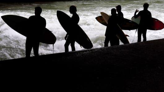 Surfers summertime