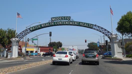 Modesto, California.