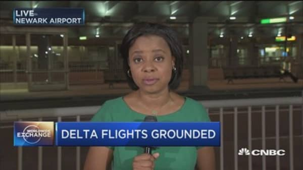 Delta flights grounded after system outage