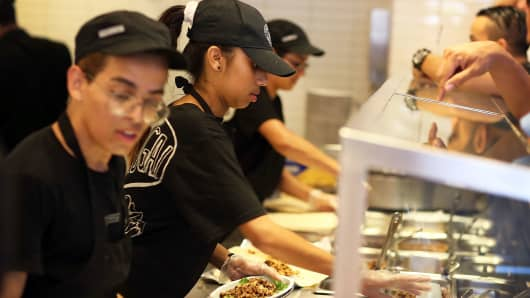 Chipotle restaurant workers in Miami