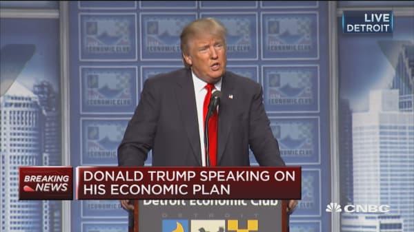 Trump: My plan has maximum corporate tax of 15%