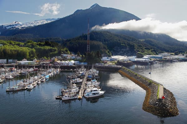 Ketchikan Harbour in Alaska