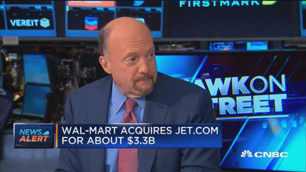 Cramer: CEO McMillon given 'blank check' to defeat Amazon
