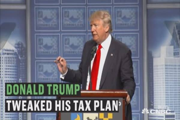 Donald Trump made a big change to his tax plan