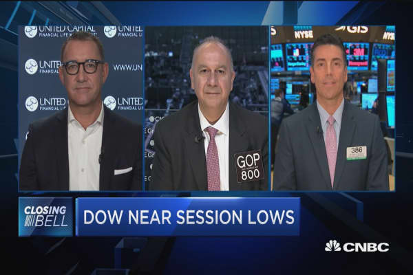 Closing Bell Exchange: Dow near session lows