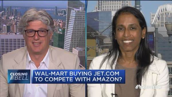 Wal-Mart buying Jet.com to compete with Amazon?