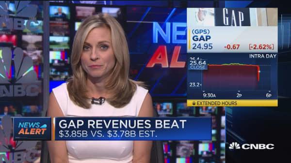 Gap revenues beat