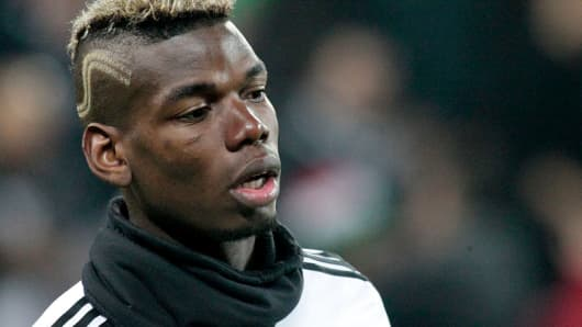 Paul Pogba before the Champions League match between Juventus and Bayern Munich in 2016.