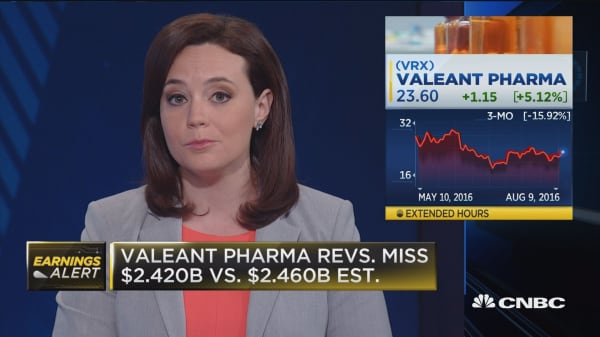 Valeant misses on top and bottom line