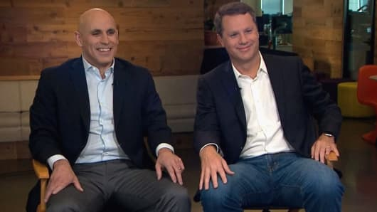 Marc Lore, CEO of Jet.com and Doug McMillon, CEO of Wal-Mart.