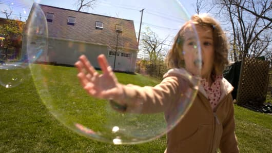 Bubble about to burst