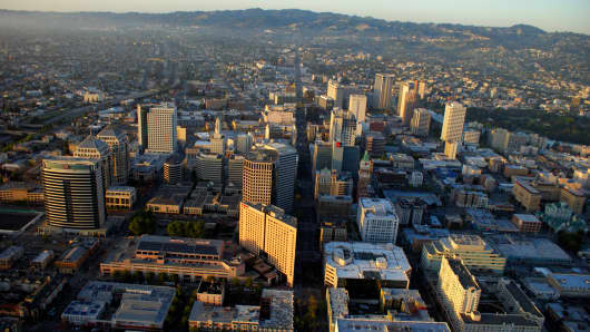 Downtown Oakland, California.