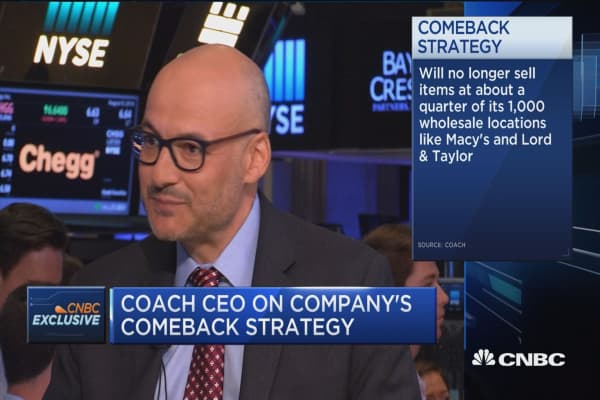 Coach CEO: We're trying to differentiate from competition