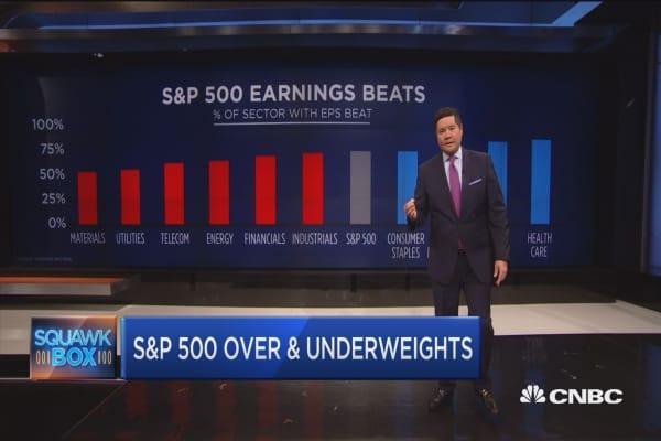 S&P 500 over & underweights