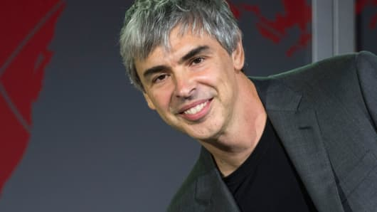 Larry Page, co-founder of Google and chief executive officer of Alphabet.