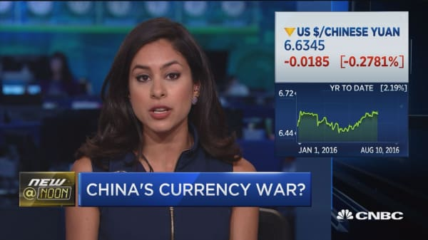 China's currency war?