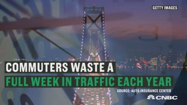 Commuters waste a full week in traffic each year