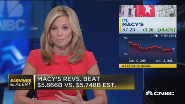 Macy's beats on top and bottom line