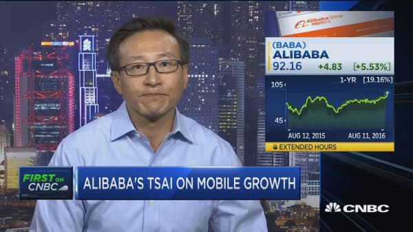 Alibaba's Tsai: We are 'killing it' in mobile
