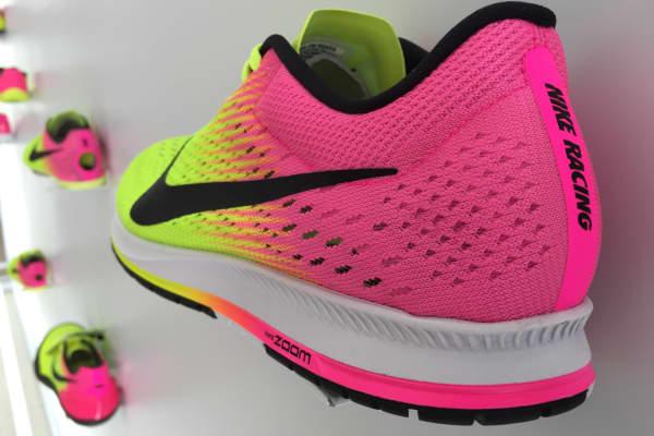 Nike sneaker on display