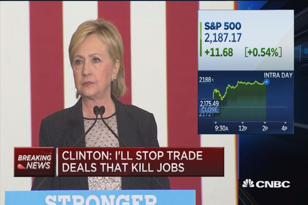 Clinton: What about trade?