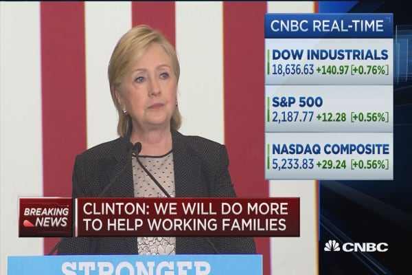 Clinton: Everybody should share in the rewards
