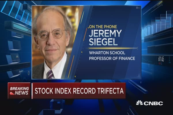Stock index record trifecta