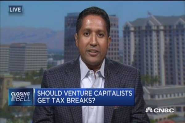 Should venture capitalists get tax breaks?