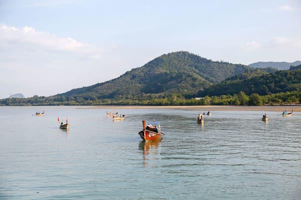 Long tail boats in Phuket, Thailand.