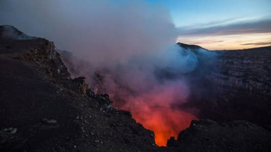 "Massaya Volcano (aka ""The Mouth of Hell"") in Nicaragua,"
