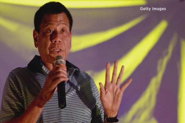 Philippines President taking aggressive action