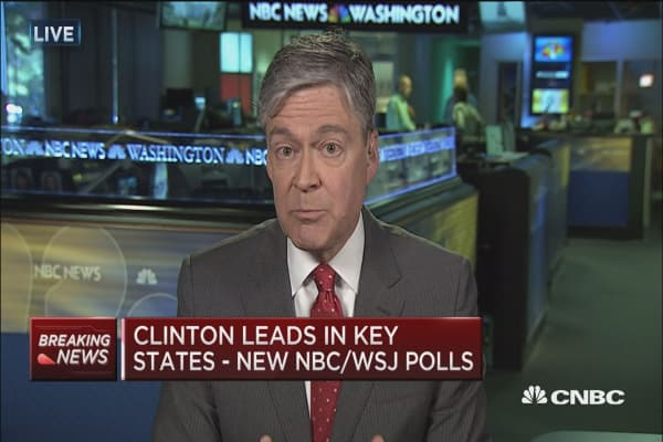 Clinton leads in key states - New polls