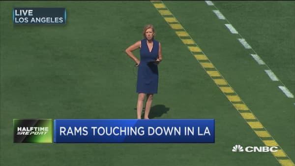 Rams touching down in LA