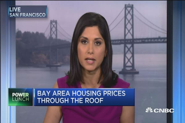 San Francisco Bay Area home prices fall for the first time
