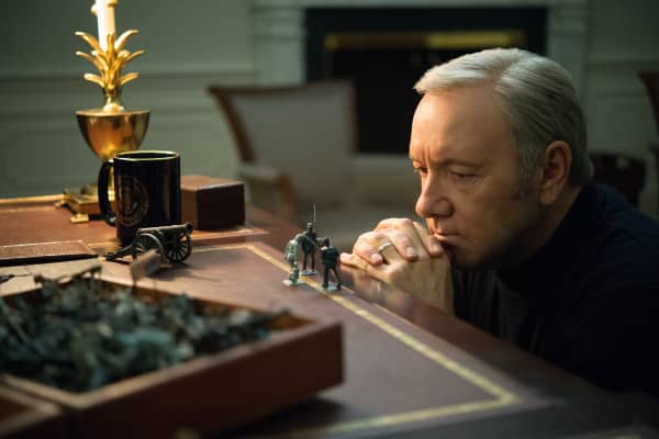 "Kevin Spacey as Francis Underwood, featured in ""House of Cards"" on Netflix"