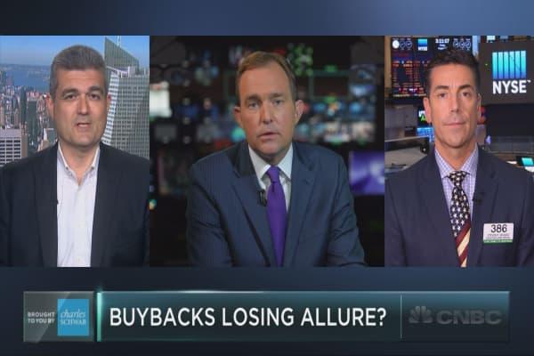 Investors may be losing their taste for buybacks