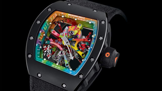The 68-01 watch from Richard Mille was made in collaboration with French graffiti artist Cyril Phan.