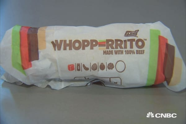 Burger King rolls out Whopperrito nationwide