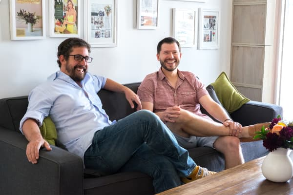 The Bouqs Company founders JP Montufar and John Tabis.