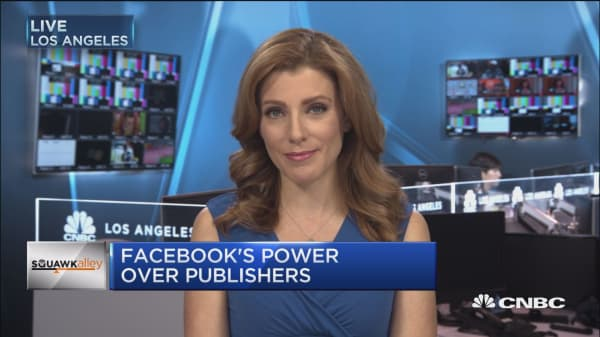 Facebook's power over publishers
