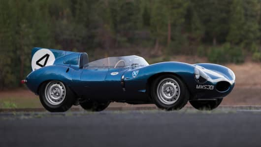 1955 Jaguar D-Type Roadster.
